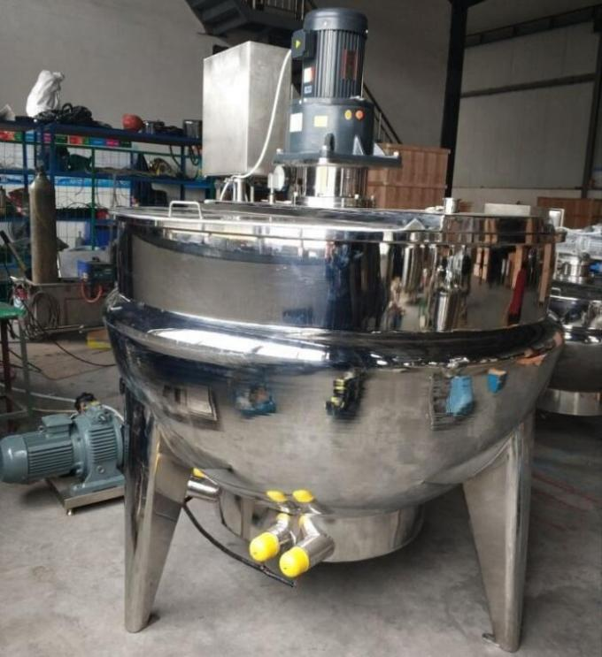 Fully Automatic Food Processing Machine Vertical Stationary Cooking Frying Jacketed Kettle