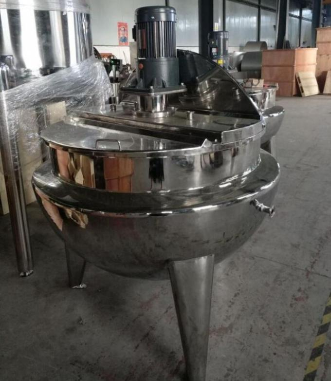 Commercial Food Processing Machine , Stainless Steel Cooking Kettle With Mixer / Cover