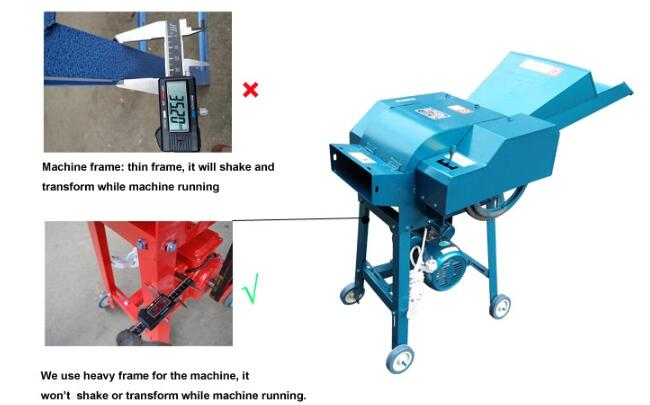 Fully Automatic Livestock Farming Equipment 1000kg/H Mini Chaff Cutter Machine