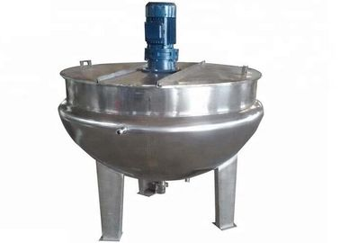 China LMJK Food Processing Machine Vertical Stainless Steel Jacketed Kettle With Blender / Cover supplier