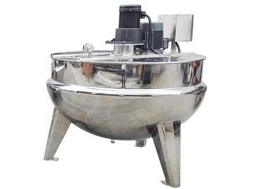 Industrial Food Processing Machine Vertical Cooking Jacketed Kettle With Agitator / Cover