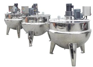 China Commercial Food Processing Machine , Stainless Steel Cooking Kettle With Mixer / Cover supplier