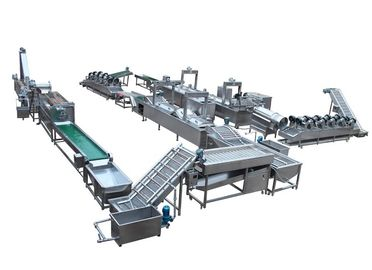 Automatic Snack Food Processing Equipment French Fries / Potato Chips Production Line