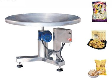 Stainless Steel Food Packing Machine Disc Feeding Table For Pouch Package