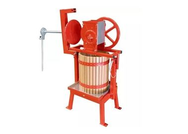 Manual Fruit Processing Machine , Fruit Press Machine With Wood Bucket